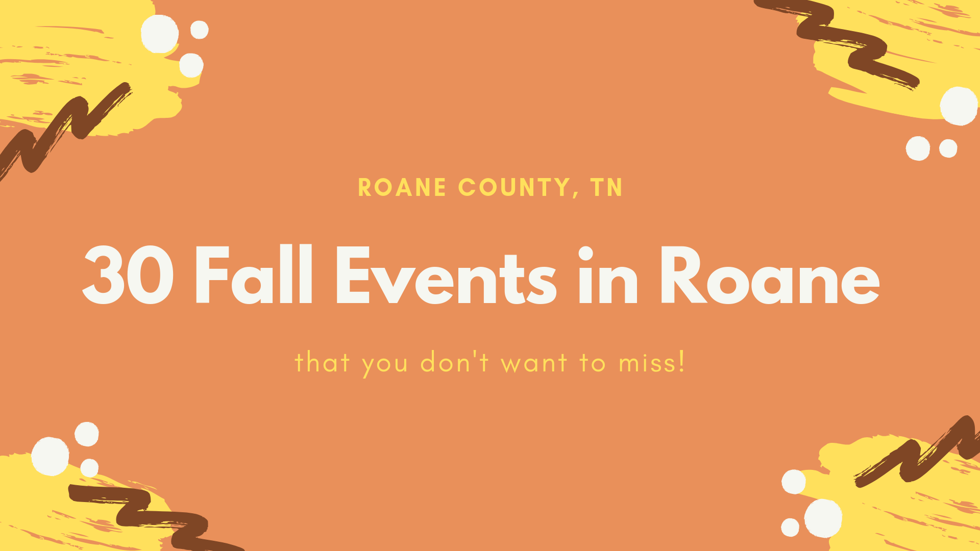 30 Fall Events in Roane